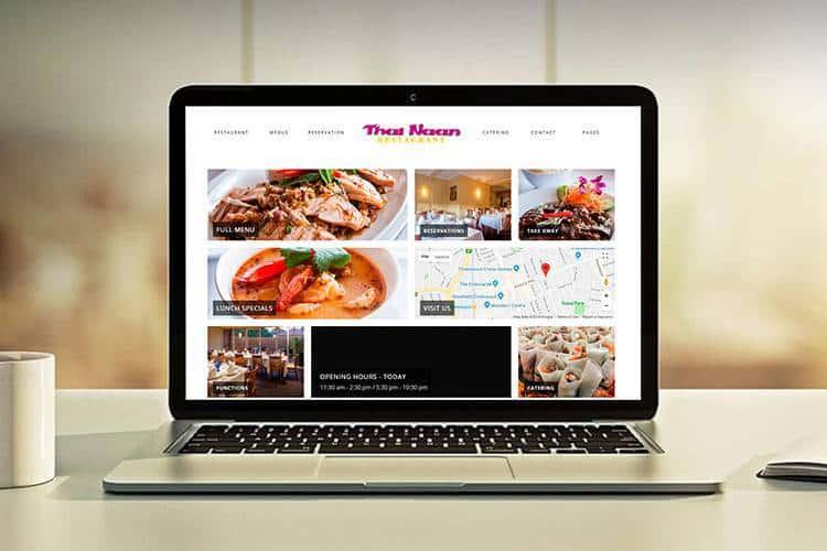 thai restaurant website design development preview