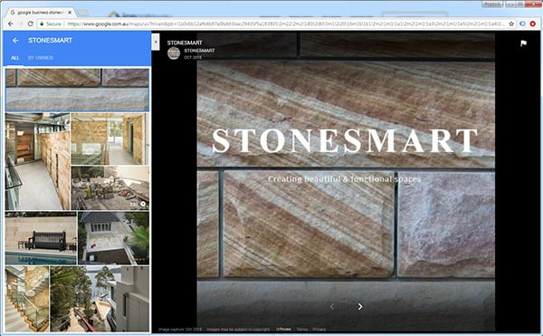 Stonesmart Google Business page for digital content marketing